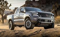 <p>The highly-anticipated Nissan Frontier will go on sale this summer with a starting price expected in the low $30,000s. The new truck will ride on the outgoing model's body-on-frame chassis, and will also use the 310-hp 3.8-liter V-6 and nine-speed automatic transmission added to the previous truck in 2020. </p>