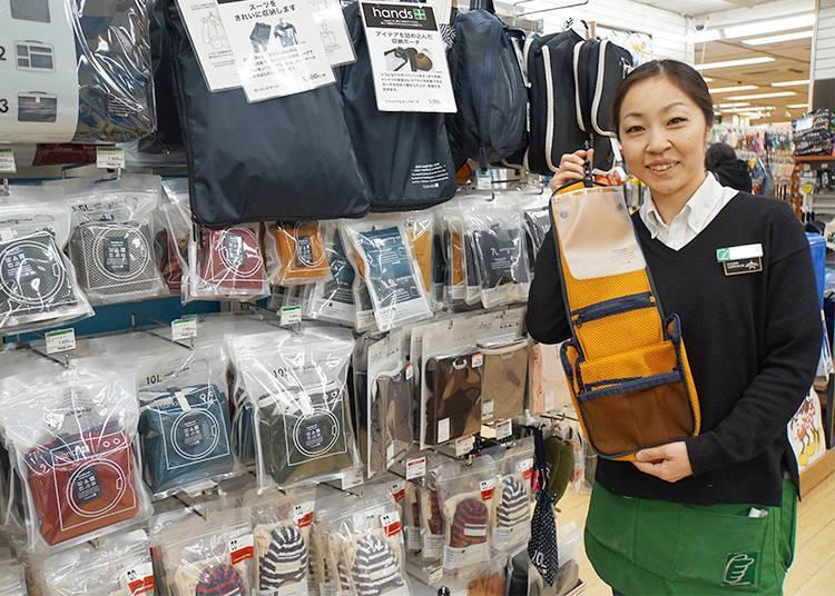 Nao Okamoto, responsible for the travel department on the 2nd floor of Tokyu Hands Ikebukuro
