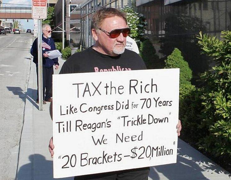 In this undated file photo, James Hodgkinson holds a sign during a protest outside of a United States Post Office in Belleville, Ill. Hodgkinson has been identified as the suspect in the Wednesday, June 14, 2017, Washington D.C. shooting. (Photo: Derik Holtmann/Belleville News-Democrat via AP)