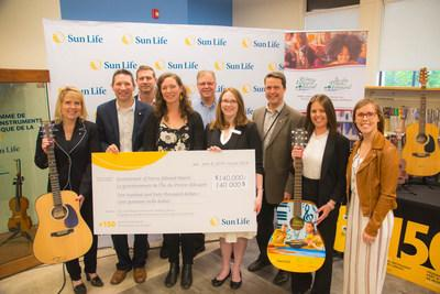 Sun Life and Catherine MacLellan launch the Sun Life Musical Instrument Lending Library program at the PEI Public Library Service. (CNW Group/Sun Life Financial Inc.)