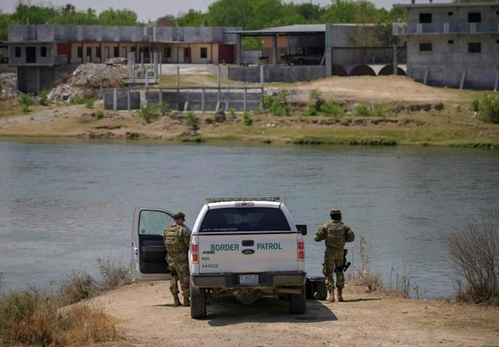 US Border Patrol officers patrol the Rio Grande in Roma, Texas, across from Mexico. Apprehensions of undocumented migrants on the US border with Mexico soared 70 percent in March to 172,331, hitting the highest level in 15 years.