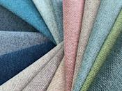 """<p>A plain woven fabric with a soft finish that is suitable for both curtains and upholstery, 'Ocean' is constructed from filament yarn generated from recycled plastic bottles. It's available in 33 colours –from cool neutrals to blues, greens and pretty pinks – and ten per cent of profits from the sale of the fabric goes to the One Ocean Foundation to help protect our seas. £55 per metre, <a href=""""https://www.osborneandlittle.com/fabrics/spring-2021/ocean.html"""" rel=""""nofollow noopener"""" target=""""_blank"""" data-ylk=""""slk:osborneandlittle.com"""" class=""""link rapid-noclick-resp"""">osborneandlittle.com</a></p>"""