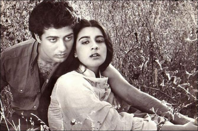 Sunny Deol and Amrita Singh