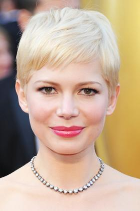 """<div class=""""caption-credit""""> Photo by: Getty</div><div class=""""caption-title"""">Michelle Williams</div>Oval-shaped faces can pull off just about any look -- especially one that's as bold as Williams' pixie. """"The short fringe draws attention to all your features,"""" says Rocky Vitelli, Farouk System's international educator. """"This cut accentuates Williams' big eyes, cheekbones, and full lips, so it brings out her beauty completely. There's nothing you're going to hide and not hide with this cut -- everything is out."""" Smith adds, """"The cut is fitted to her head shape with just a little volume, which works for her, because of her oval face shape."""" <a href=""""http://www.totalbeauty.com/content/gallery/best-short-hairstyles-face-shape/p106492/page3?cid=2524"""" rel=""""nofollow noopener"""" target=""""_blank"""" data-ylk=""""slk:S ee the best bob for an oval-shaped face here."""" class=""""link rapid-noclick-resp"""">S ee the best bob for an oval-shaped face here.</a>"""