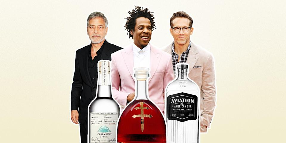 """<p class=""""body-dropcap"""">By the time you read this, five more celebrities will launch their own spirits companies. Colin Jost will release a lo-cal <a href=""""https://www.esquire.com/food-drink/drinks/a27032852/best-tequila-brands/"""" rel=""""nofollow noopener"""" target=""""_blank"""" data-ylk=""""slk:tequila"""" class=""""link rapid-noclick-resp"""">tequila</a>. Steven Segal will get into the <a href=""""https://www.esquire.com/food-drink/drinks/a27466729/best-japanese-whiskey-bottles/"""" rel=""""nofollow noopener"""" target=""""_blank"""" data-ylk=""""slk:Japanese whisky"""" class=""""link rapid-noclick-resp"""">Japanese whisky</a> game. TikToker Dixie D'Amelio will start a coconut <a href=""""https://www.esquire.com/food-drink/drinks/a27660832/best-rum-brands/"""" rel=""""nofollow noopener"""" target=""""_blank"""" data-ylk=""""slk:rum"""" class=""""link rapid-noclick-resp"""">rum</a> brand.</p><p>Just three years ago, when I tried to rank every celebrity spirit for<em> Esquire</em>, the number sat at 37, and even then, some were pretty dubious. (I've yet to see a bottle of Danny Devito's supposed Limoncello.) That was so long ago, in fact, that my number one choice was an absinthe from Marilyn Manson; today the goth icon claims he hates the taste of absinthe, has quit <a href=""""https://www.nme.com/news/music/marilyn-manson-reveals-why-he-stopped-drinking-absinthe-2757986"""" rel=""""nofollow noopener"""" target=""""_blank"""" data-ylk=""""slk:drinking"""" class=""""link rapid-noclick-resp"""">drinking</a>, and currently faces numerous lawsuits for <a href=""""https://www.bbc.com/news/entertainment-arts-57685153"""" rel=""""nofollow noopener"""" target=""""_blank"""" data-ylk=""""slk:alleged sexual abuse"""" class=""""link rapid-noclick-resp"""">alleged sexual abuse</a>. </p><p>Good thing so many other ego-driven jerk-offs have entered the fray. In fact, there are so many celebrity spirits it's hard to keep track. Luckily, I shit you not, there's an app, <a href=""""https://grapestars.com/"""" rel=""""nofollow noopener"""" target=""""_blank"""" data-ylk=""""slk:GrapeStars"""" class=""""link rapid-noclick-resp"""">GrapeStars</a>, speci"""
