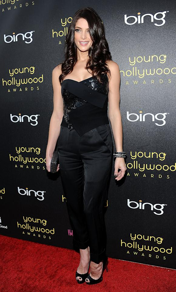 HOLLYWOOD, CA - JUNE 14:  Actress Ashley Greene arrives at the Young Hollywood Awards at Hollywood Athletic Club on June 14, 2012 in Hollywood, California.  (Photo by Valerie Macon/Getty Images)