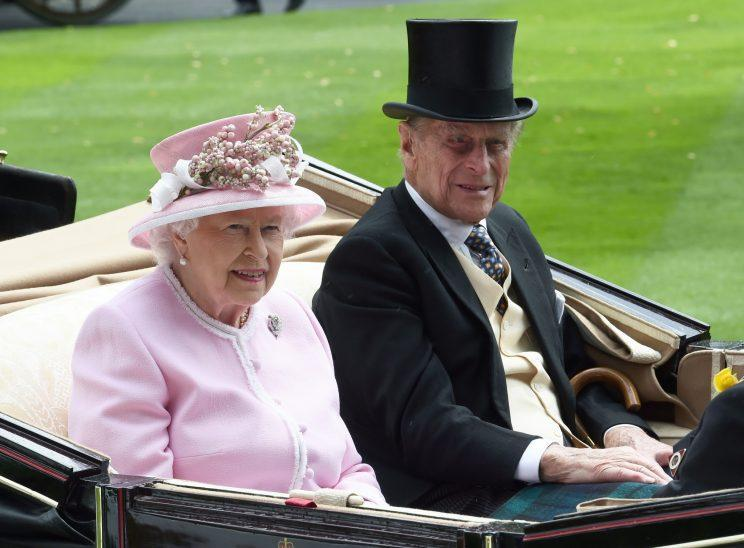 The Queen and Prince Philip at Royal Ascot on June 15, 2016 (PA)