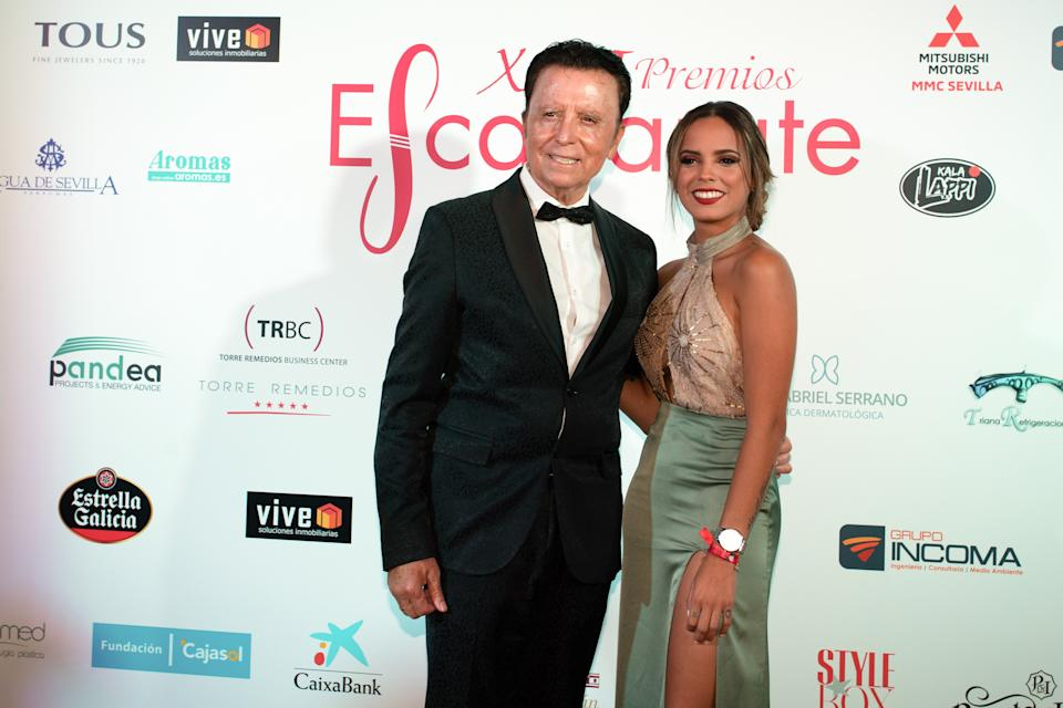 SEVILLE, SPAIN - SEPTEMBER 13: (L-R)  Ortega Cano and Gloria Camila attend the 13th edition of the Escaparate Awards on September 13, 2019 in Seville, Spain. (Photo by David Carbajo/Getty Images)