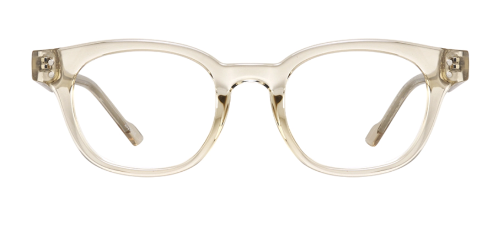Clear-ish frames catch the light and give eyes a bit of glow. (Credit: Zenni Optical)