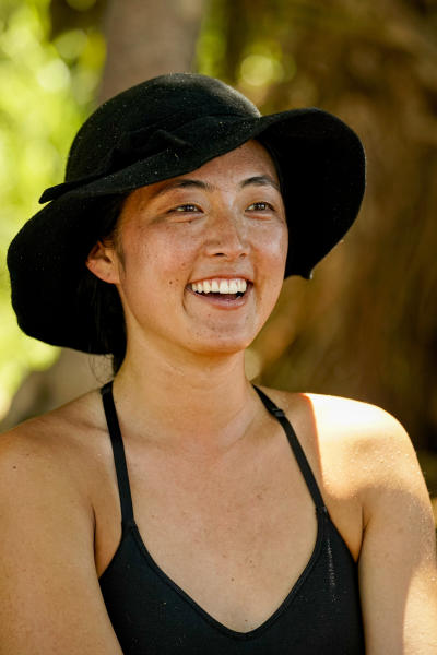 """In this undated photo provided by CBS is Kellee Kim, a contestant on the eighth and ninth episodes of """"Survivor: Island of Idols,"""" airing Wednesday, Nov. 13, 2019, (8:00-10:00 PM, ET/PT), on the CBS Television Network. (Robert Voets/CBS Entertainment via AP)"""