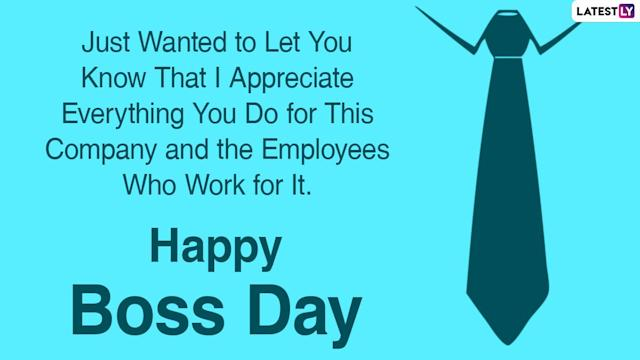 National Boss's Day 2020 Wishes & HD Images: WhatsApp Stickers, Facebook  Quotes, Instagram Stories, GIFs, Messages and SMS to Send to Your Boss!