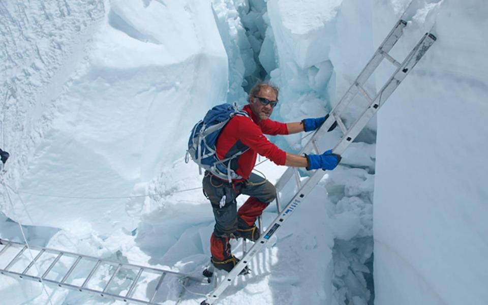 Ranulph Fiennes and Mount Everest - LIZ SCARFF/PA