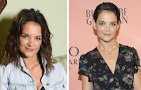 <p><strong>When:</strong> October 24<br>The 38-year-old actress showed off a new pixie crop. Katie revealed that she'd cut her locks for a role in new film, 'The Doorman'.<br><i>[Photo: Getty/Rex]</i> </p>
