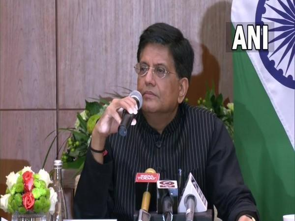 Union Commerce and Industry Minister Piyush Goyal speaking in Dubai.