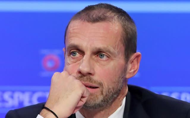 Aleksander Ceferin has warned that revenue polarisation could threaten the stability of European football (Niall Carson/PA)