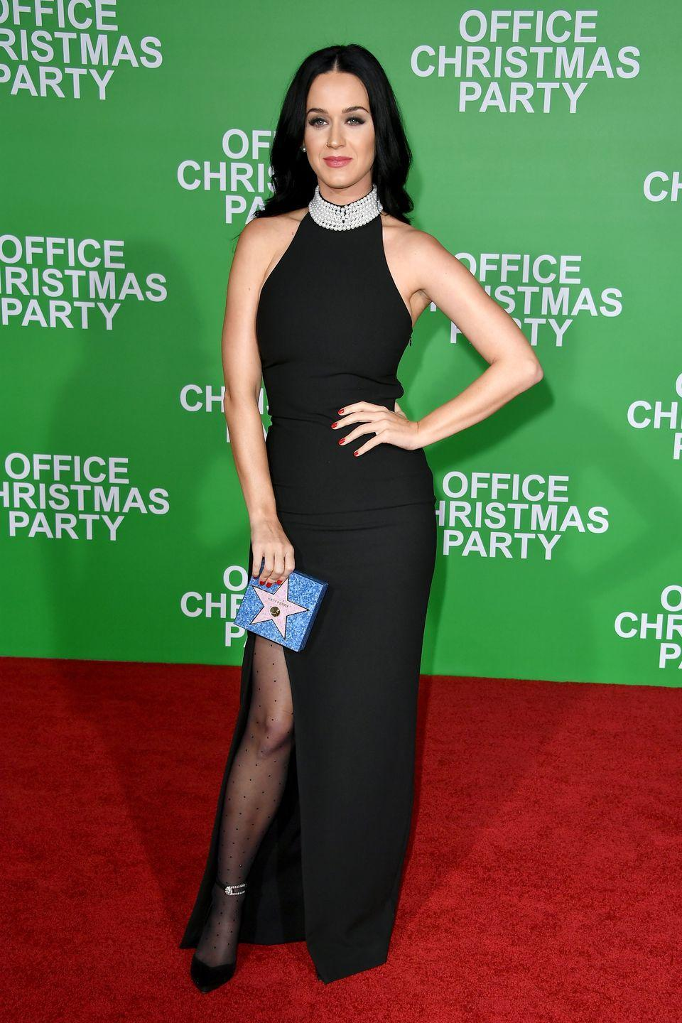 <p>Katy Perry attends the premiere of Paramount Pictures' 'Office Christmas Party' at Regency Village Theatre on December 7, 2016 in Westwood, California.</p>