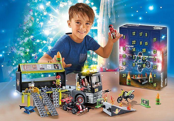 "<p><strong>PLAYMOBIL</strong></p><p>playmobil.us</p><p><strong>$49.99</strong></p><p><a href=""https://www.playmobil.us/jumbo-advent-calendar---stunt-show/70544.html"" rel=""nofollow noopener"" target=""_blank"" data-ylk=""slk:Shop Now"" class=""link rapid-noclick-resp"">Shop Now</a></p><p>Playmobil goes all-in on advent calendars. One of the best may be the Jumbo Stunt Show (seen here), which becomes a full-size playset that kids can use year-round with their other Playmobil characters. There's also a <a href=""https://www.playmobil.us/advent-calendar---christmas-toy-store/70188.html"" rel=""nofollow noopener"" target=""_blank"" data-ylk=""slk:Christmas toy store"" class=""link rapid-noclick-resp"">Christmas toy store</a>, <a href=""https://www.playmobil.us/advent-calendar---farm/70189.html"" rel=""nofollow noopener"" target=""_blank"" data-ylk=""slk:a farm"" class=""link rapid-noclick-resp"">a farm</a>, a <a href=""https://www.playmobil.us/advent-calendar-battle-for-the-magic-stone/70187.html"" rel=""nofollow noopener"" target=""_blank"" data-ylk=""slk:set with knights"" class=""link rapid-noclick-resp"">set with knights</a> and — our favorite — an advent calendar that celebrates the 35th anniversary of <em><a href=""https://www.playmobil.us/back-to-the-future-advent-calendar/70574.html"" rel=""nofollow noopener"" target=""_blank"" data-ylk=""slk:Back to the Future"" class=""link rapid-noclick-resp"">Back to the Future</a></em><em>. Ages 4+</em></p>"