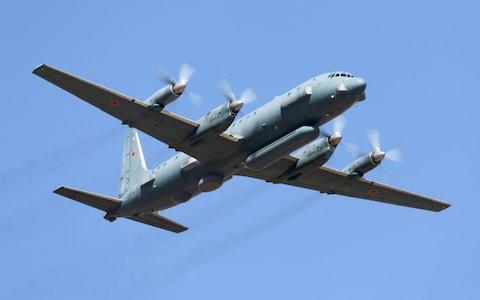 <span>A IL-20PP reconnaissance aircraft of the Russian Air Force taking </span> <span>Credit: Alamy </span>
