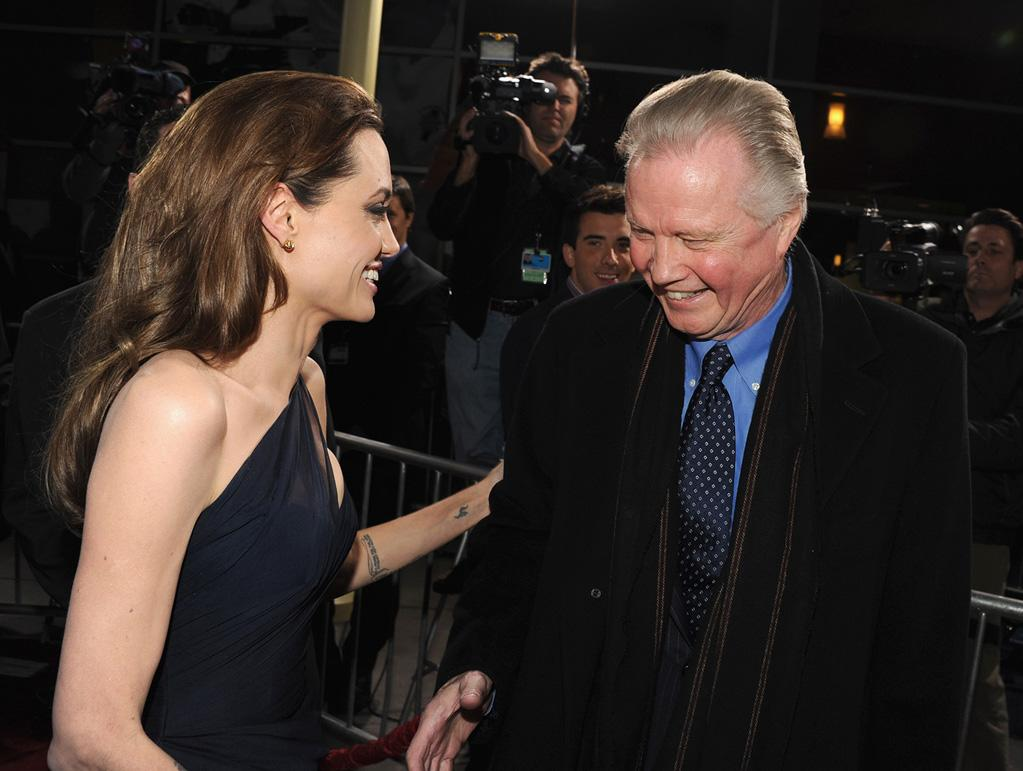 "<a href=""http://movies.yahoo.com/movie/contributor/1800019275"">Angelina Jolie</a> and <a href=""http://movies.yahoo.com/movie/contributor/1800018586"">Jon Voight</a> at the Los Angeles premiere of <a href=""http://movies.yahoo.com/movie/1810186173/info"">In the Land of Blood and Honey</a> on December 8, 2011."