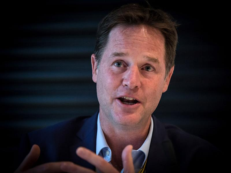 Nick Clegg accused Brexiteers of taking 'intellectual inspiration' from the Tea Party: Getty