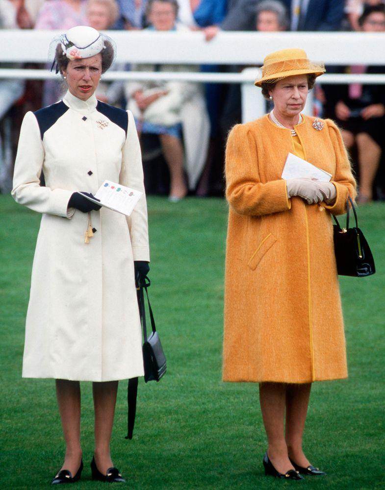 Princess Anne with her mother, Queen Elizabeth, in June 1985