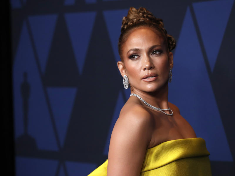 2019 Governors Awards - Arrivals - Los Angeles, California, U.S., October 27, 2019 - Jennifer Lopez. REUTERS/Mario Anzuoni