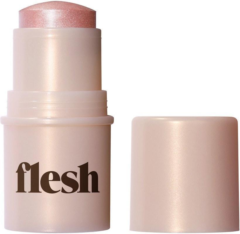 """<p>Flesh Beauty has taken the makeup world by storm since it launched earlier this year. If you haven't already, it's time to hop on board. The brand's highlighters — which come in liquid, powder, and solid forms — are known to be some of the best in the biz, so take this opportunity to test them out yourself.</p> <p><em><strong>Shop Now:</strong> Flesh Beauty Highlighters, $9-14 (regularly $18-28), <a rel=""""nofollow noopener"""" href=""""https://www.ulta.com/featured/fall21dob_fleshhighlighers"""" target=""""_blank"""" data-ylk=""""slk:available at Ulta"""" class=""""link rapid-noclick-resp"""">available at Ulta</a></em></p>"""