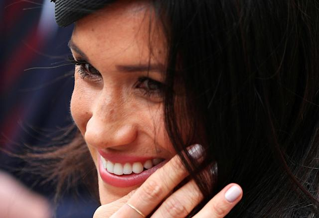 Britain's Prince Harry's fiancee Meghan Markle leaves an ANZAC day service at Westminster Abbey in London, April 25, 2018. REUTERS/Hannah McKay TPX IMAGES OF THE DAY