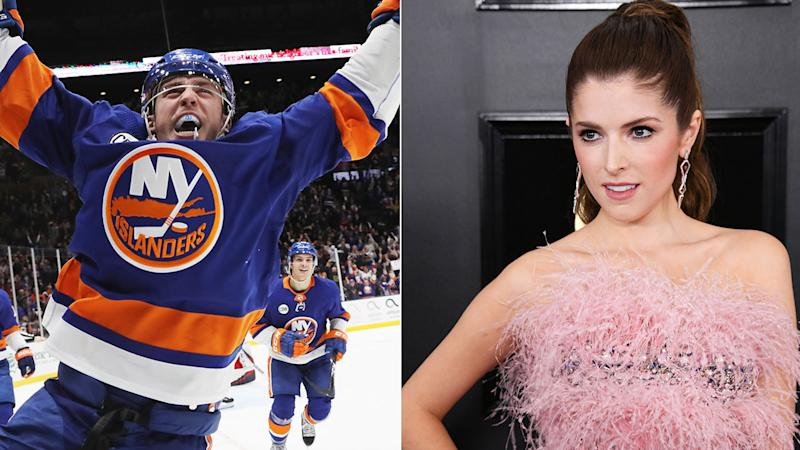 Anna Kendrick responds to Islanders' Anthony Beauvillier's Twitter shot