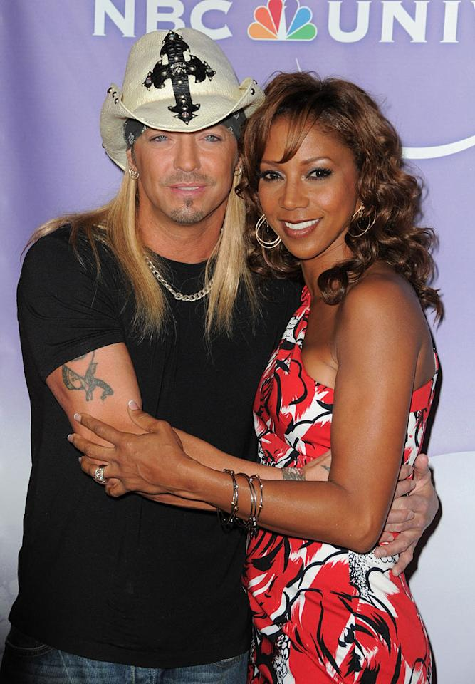 Holly Robinson and Bret Michaels arrive at NBC Universal's Press Tour Cocktail Party at Langham Hotel on January 10, 2010 in Pasadena, California.
