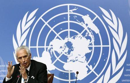 Jon S. Abramson, Chair of the WHO Strategic Advisory Group of Experts (SAGE) on Immunization attends a news conference at the United Nations European headquarters in Geneva, Switzerland, October 23, 2015. REUTERS/Denis Balibouse