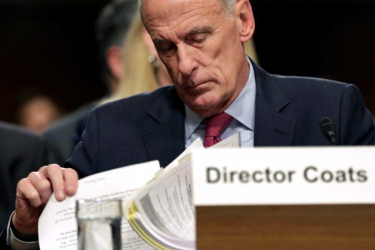 Director of National Intelligence Dan Coats testifies before the Senate Armed Services Committee.