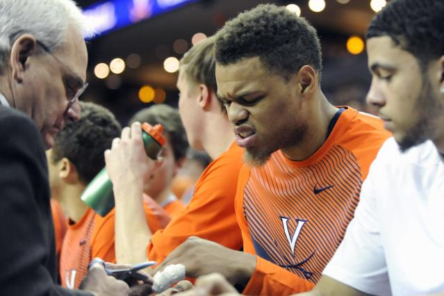 Virginia loses star Justin Anderson to a fractured finger