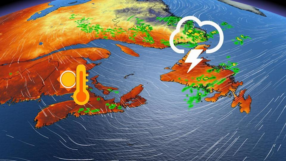 Scattered storms across Atlantic Canada, changeable pattern continues