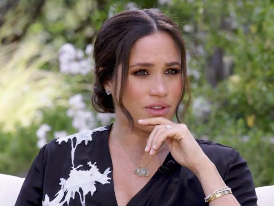 <p>Meghan Markle says Queen Elizabeth was 'always wonderful': 'I just really loved being in her company'</p> (CBS / Harpo Productions)