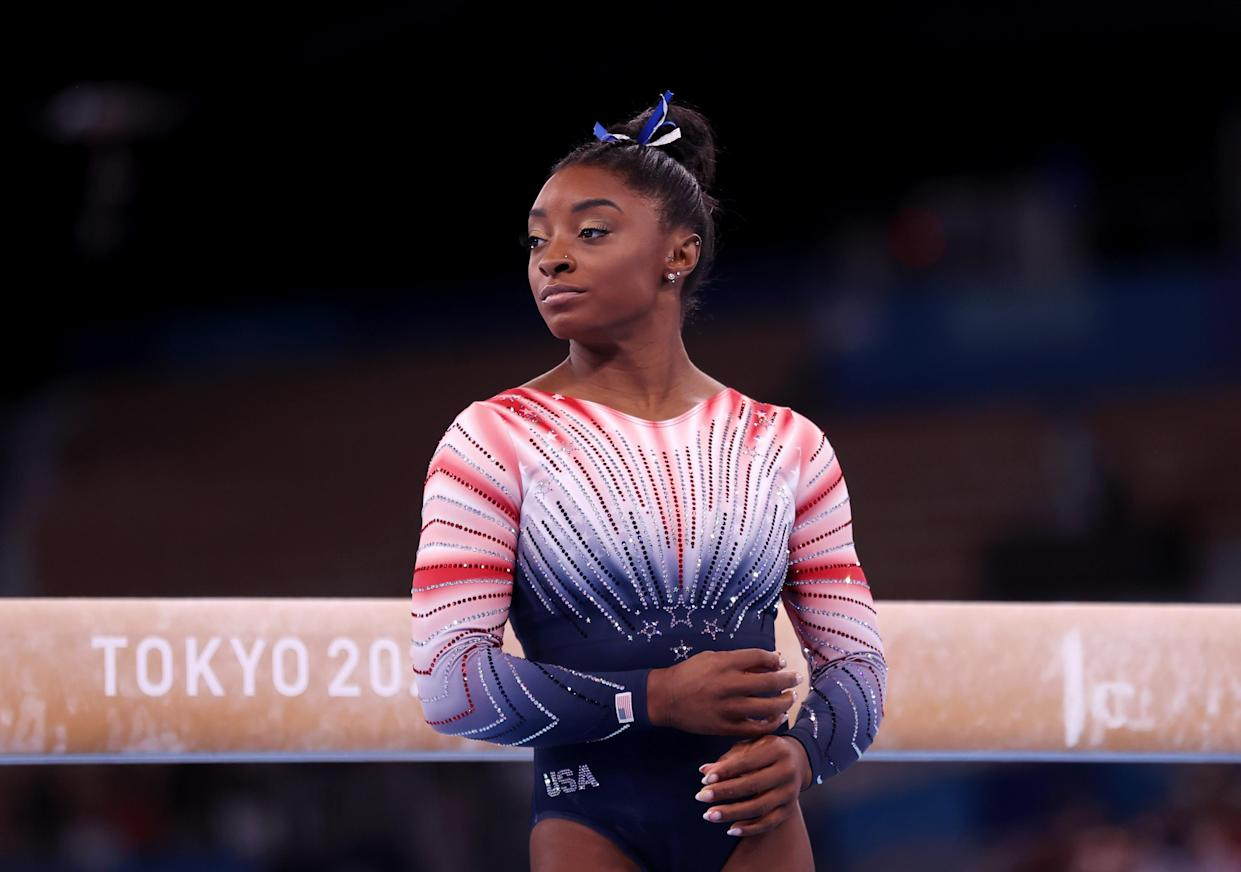 Simone Biles cited her mental health as the reason why she had to withdraw from the recent Tokyo Olympics. (Getty Images)