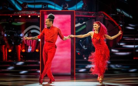 Diane Buswell and Dev Griffin during the BBC1 dance contest, Strictly Come Dancing. - Credit: Guy Levy/BBC