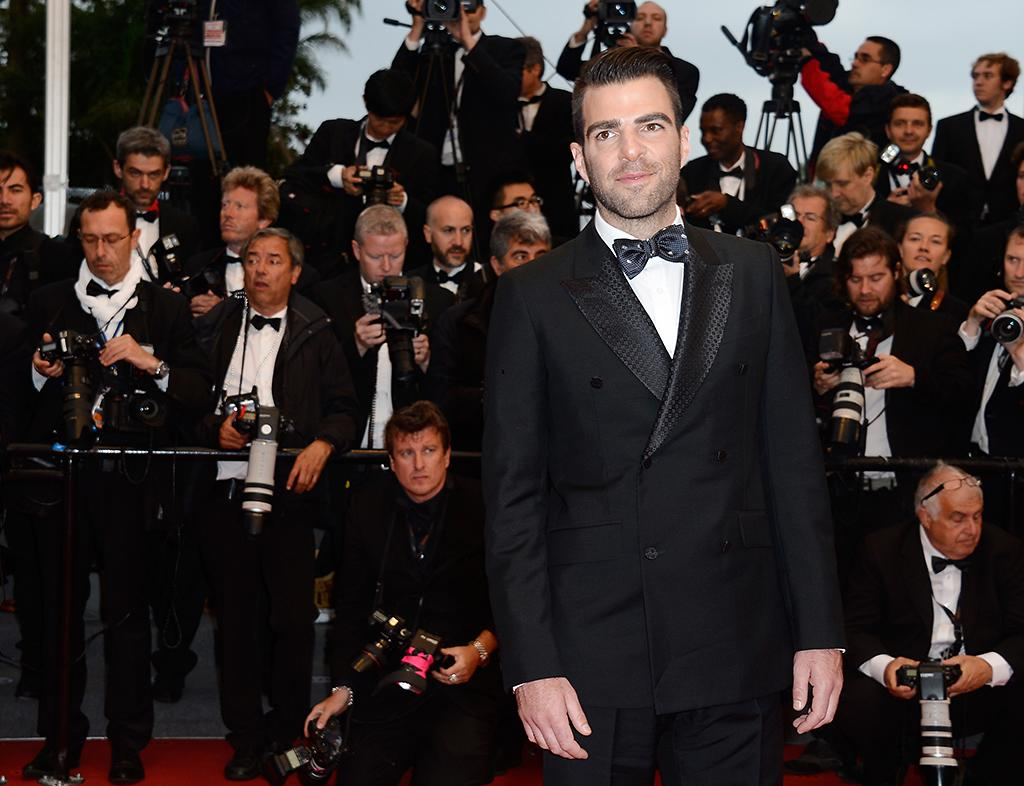 CANNES, FRANCE - MAY 22:  Actor Zachary Quinto attends the 'All Is Lost' Premiere during the 66th Annual Cannes Film Festival at Palais des Festivals on May 22, 2013 in Cannes, France.  (Photo by Pascal Le Segretain/Getty Images)
