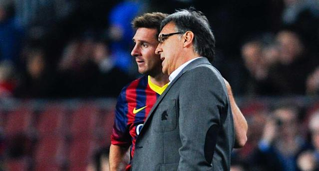Martino coached Messi at Barca for one season in 2013-14. (Getty Images)