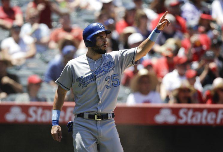 Eric Hosmer jumped over Miguel Cabrera and Yonder Alonso in AL All-Star voting. (AP Photo)