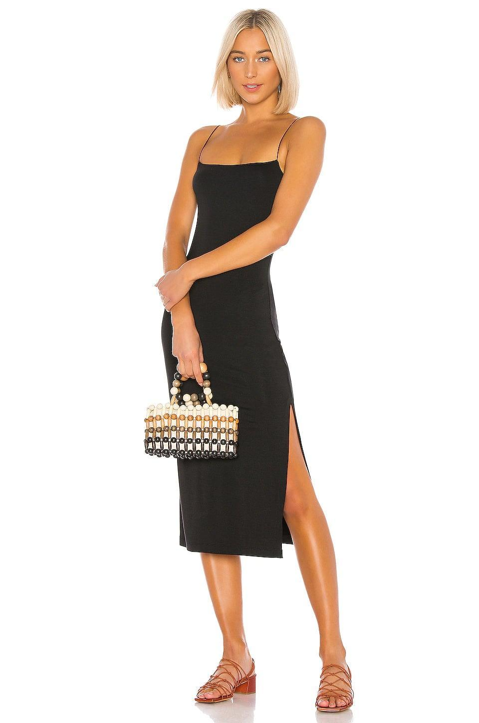 <p>If you need us, we'll be dreaming of this <span>Enza Costa Strappy Side Slit Dress</span> ($198).</p>