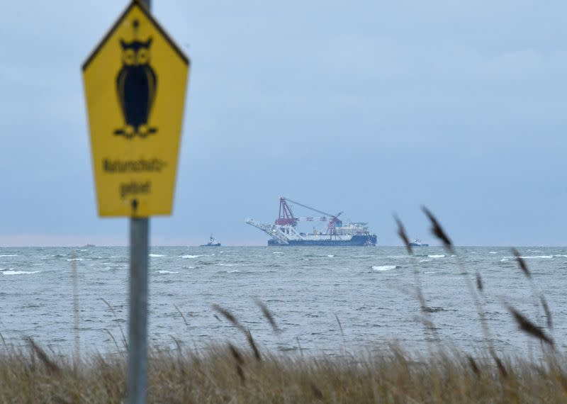 "FILE PHOTO: The Russian pipe-laying ship ""Fortuna"" is seen in the Mecklenburg Bay"