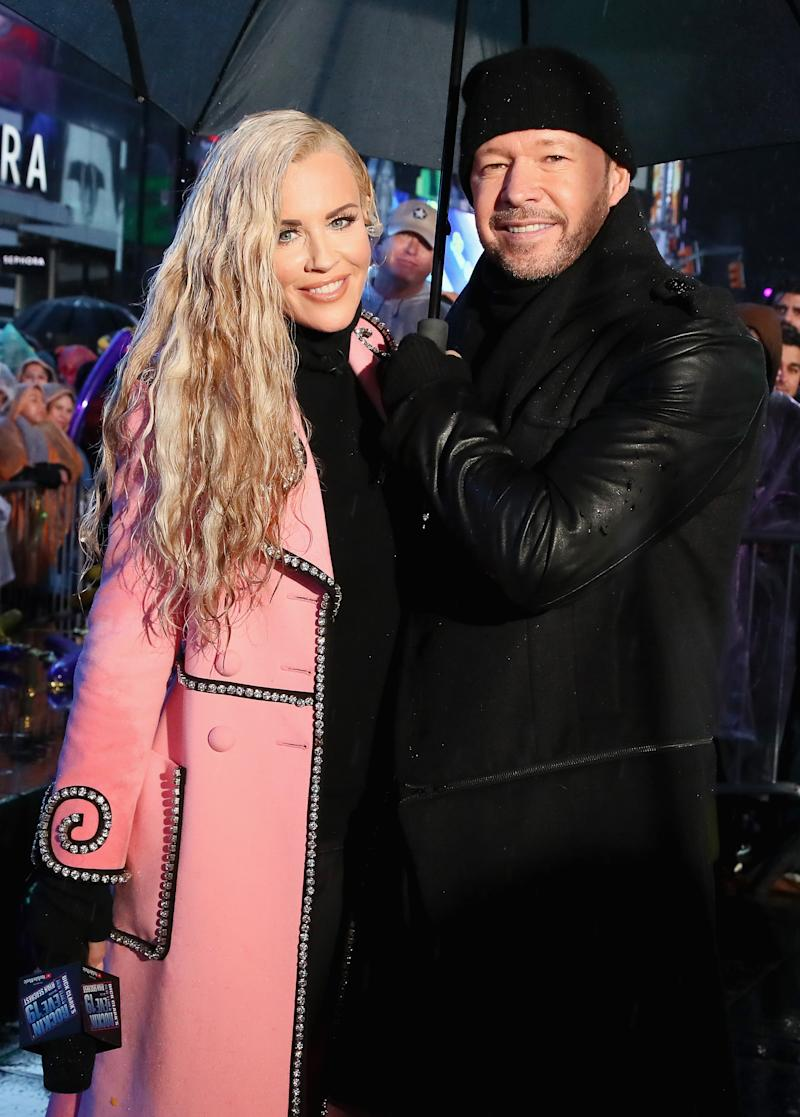 NEW YORK, NY - DECEMBER 31: Jenny McCarthy and Donnie Wahlberg pose during Dick Clark's New Year's Rockin' Eve With Ryan Seacrest 2019 on December 31, 2018 in New York City. (Photo by Astrid Stawiarz/Getty Images for Dick Clark's New Year's Rockin' Eve)