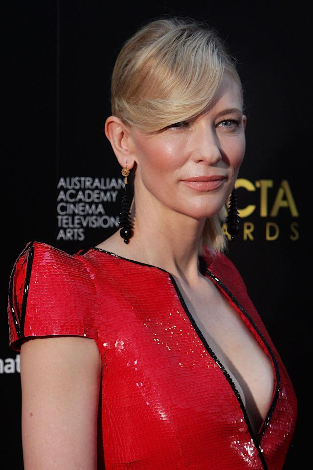 <p>Cate Blanchett arrives at the AACTA Awards at the Star on Jan. 30, 2013, in Sydney, Australia. (Photo: Lisa Maree Williams/Getty Images) </p>