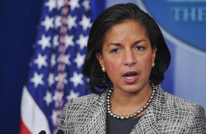 US National Security Advisor Susan Rice speaks in the Brady Briefing Room of the White House on March 21, 2014 in Washington, DC