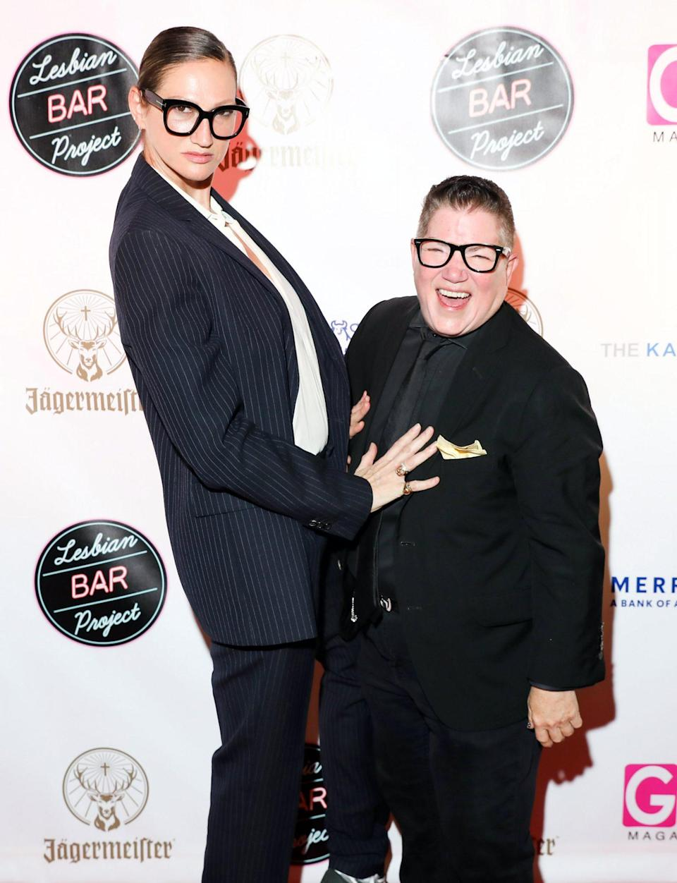 <p>Jenna Lyons and Lea DeLaria get silly on Wednesday night at The Lesbian Bar Project presented by Jagermeister at Harbor NYC.</p>