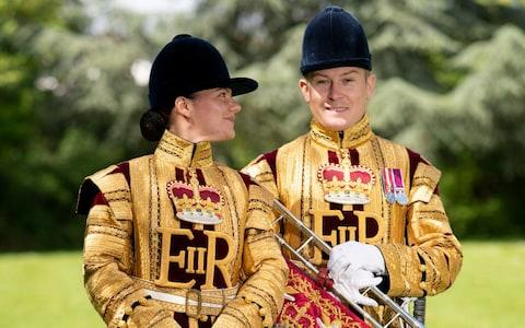 royal trumpeter - Credit: Geoff Pugh for the Telegraph