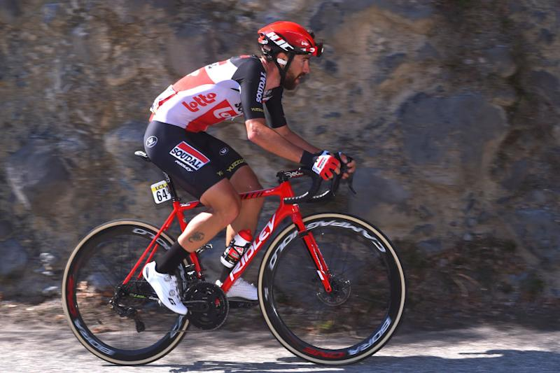 Lotto Soudal's Thomas De Gendt on the attack on the final stage of the 2020 Paris-Nice