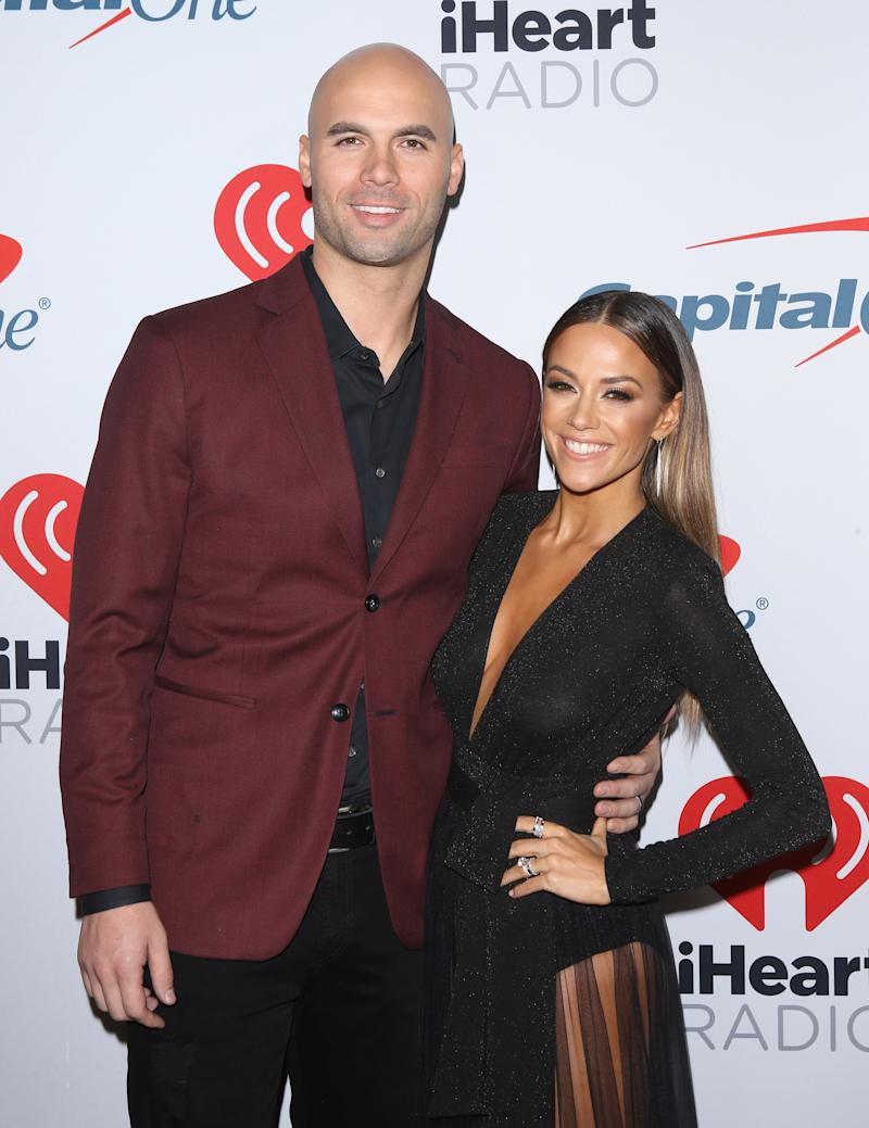 Mike Caussin and Jana Kramer attend the iHeartRadio Podcast Awards held at iHeartRadio Theater on January 18, 2019 in Burbank, California. (Photo: Michael Tran/FilmMagic)