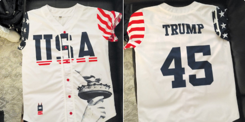 A high school principal is replaced after telling a student to remove his Trump jersey.(Photo: Twitter/TimABC11)